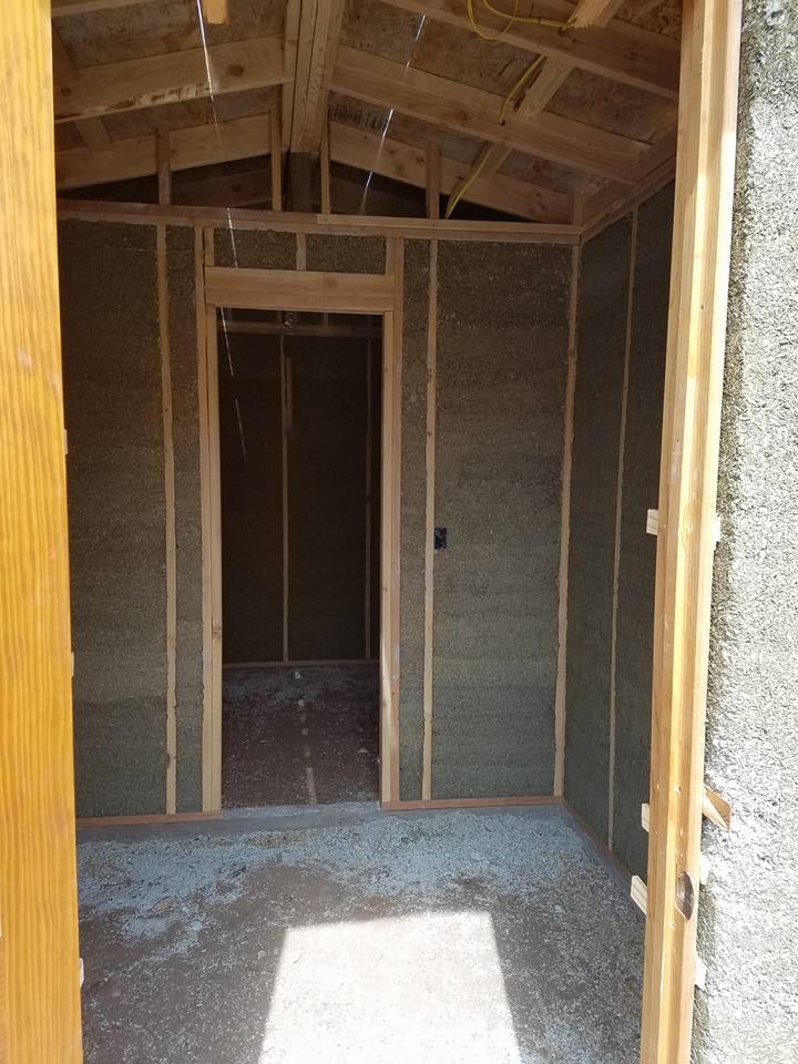 Hempcrete Sauna inside